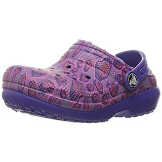 Crocs Girls Clogs Faux Fur Lined Leopard Print