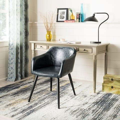 Safavieh Adalena Dark Grey/ Black Accent Chair