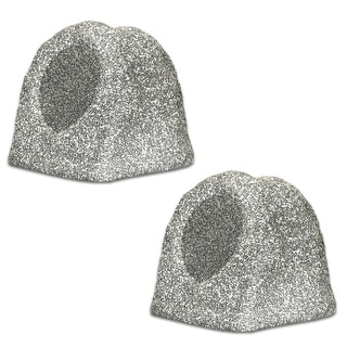 Acoustic Audio RS6GG-PR Granite Rock Speaker Pair Outdoor Weatherproof Speakers