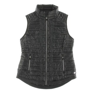 Tommy Hilfiger Womens Outerwear Vest Quilted Sleeveless