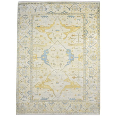 One of a Kind Hand-Knotted Persian 9' x 12' Oriental Wool Green Rug - 9' x 12'