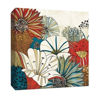 "PTM Images 9-152488  PTM Canvas Collection 12"" x 12"" - ""Contemporary Garden I"" Giclee Flowers Art Print on Canvas"