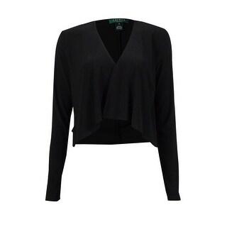 Ralph Lauren Women's Open Front Jersey Cardigan