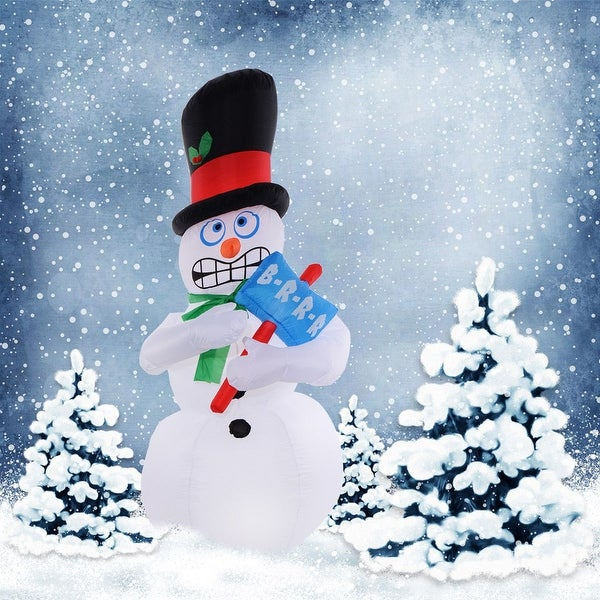 Costway 7Ft Airblown Inflatable Christmas Snowman Gemmy Lighted Decor Lawn Yard Outdoor