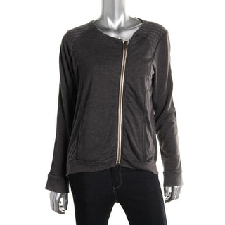 Chaser Womens Asymmetrical Zip Front Casual Blazer