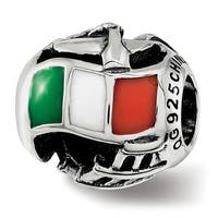 Sterling Silver Reflections Enameled Italy Theme Bead (4.5mm Diameter Hole)