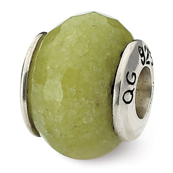 Sterling Silver Reflections Apple Green Quartz Stone Bead (4mm Diameter Hole)