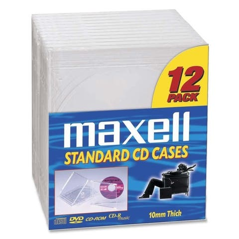 Maxell 190069 maxell cd jewel cases - Clear