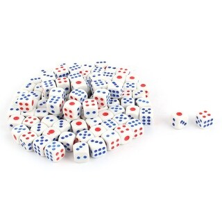 KTV Plastic Square Shaped Games Shaking Dice Tricolor 1.3cm Length 100pcs