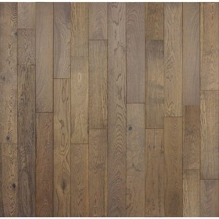 "Mountain Range - 5-7/8"" Engineered Hardwood Flooring - Handscraped White Oak Wood - Sold by Carton (28.5 SF/Carton) - N/A (4 options available)"
