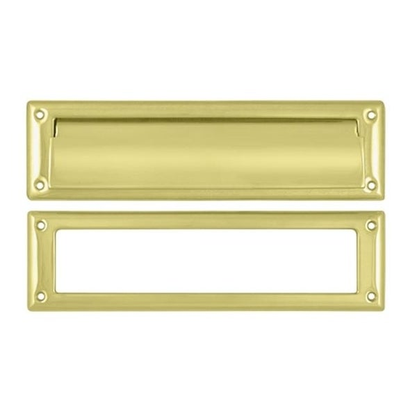 Mail Slot With Interior Frame Bright