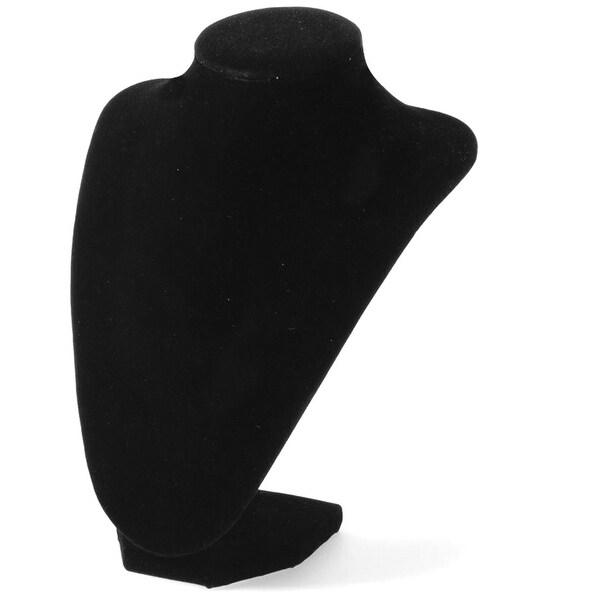 """Bust Necklace Stand 9""""-Black Velvet - Black"""