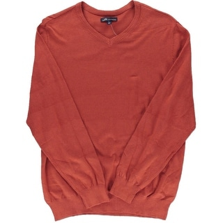 John Ashford Mens Solid Long Sleeve Pullover Sweater