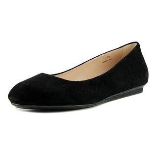 Tod's Ballerina Gomma Mocassino Rigirato Women Pointed Toe Suede Black Flats