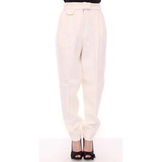 KAALE SUKTAE KAALE SUKTAE White Wool High Waist Casual Pants - it40-s