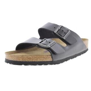 Birkenstock Leather Buckle Slide Sandals - 8