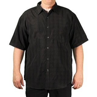 Bruno BIG Men's Short Sleeve Button-Down Shirt (5 options available)