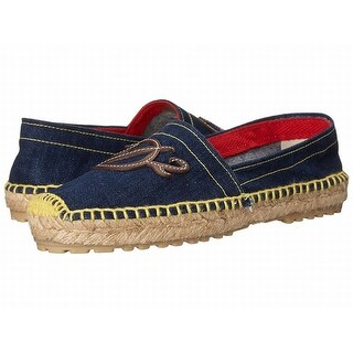 DSquared2 NEW Blue Shoes Size 7M Embroidered Espadrilles Flats