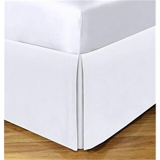 Levinsohn Basic Cotton Rich 200TC Tailored 14 in. Bed Skirt White