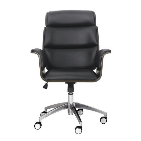 Cannonade Mid-Century Modern Swivel Office Chair by Christopher Knight Home
