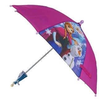 Disney Kid's Frozen Stick Umbrella with Character Handle - One size