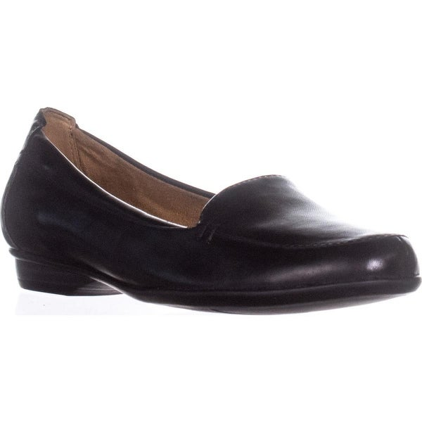 naturalizer Saban Slip-On Loafers, Black Leather