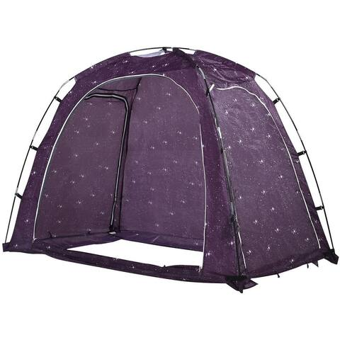 Bed Tent Indoor Privacy Play Tent on Bed - Purple