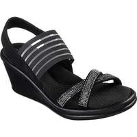 Skechers Women's Rumblers Modern Maze Wedge Sandal Black