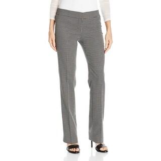 Nine West NEW Black White Women's Size 14 Check Knit Dress Pants