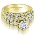1.35 cttw. 14K Yellow Gold Antique Round Cut Diamond Bridal Set - Thumbnail 0