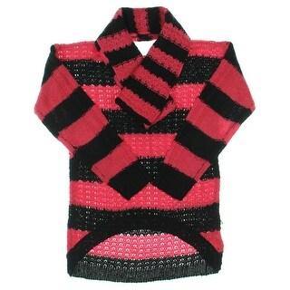 Derek Heart Girls Knit Striped Pullover Sweater - S