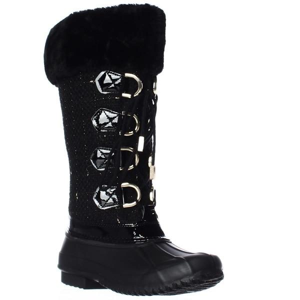 I35 Lorinah Cozy Winter Boots, Black/Gold - 9 us