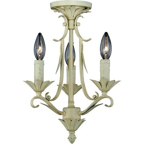 Vaxcel Lighting W0105 Austen 3 Light Semi-Flush Indoor Ceiling Fixture - 11.5 Inches Wide