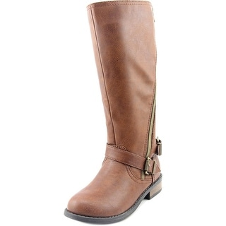 Sarah Jayne Lynxx Youth Round Toe Synthetic Brown Knee High Boot