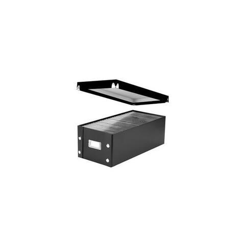 Vaultz r sns01524 snap n store dvd storage box black