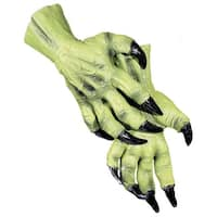 Witch Hands Costume Gloves - Green
