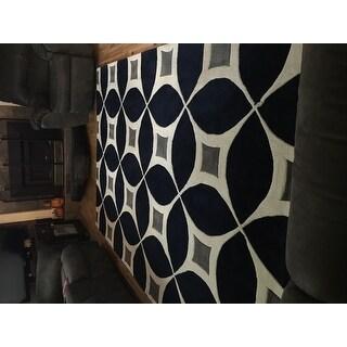 Carson Carrington Braedstrup Handmade Navy Area Rug