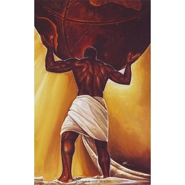 ''Power of Man'' by WAK - Kevin A. Williams African American Art Print (36 x 24 in.)