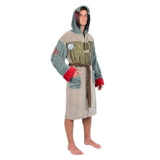 Star Wars Brown Green Boba Fett Armour Fleece Robe (One Size)