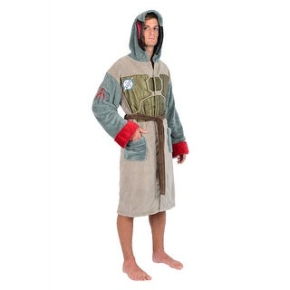 Star Wars Brown Green Boba Fett Armour Fleece Robe (One Size)