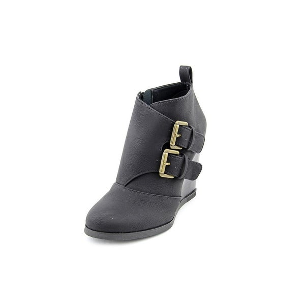 Restricted Winkie Women Round Toe Synthetic Black Ankle Boot