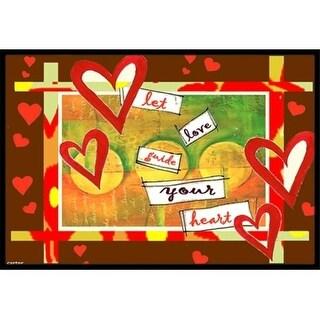 Carolines Treasures PJC1113MAT Let Love Guide Your Heart Valentines Day Indoor & Outdoor Mat 18 x 27 in.