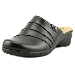 Earth Origins Ginger Women Round Toe Leather Black Mules