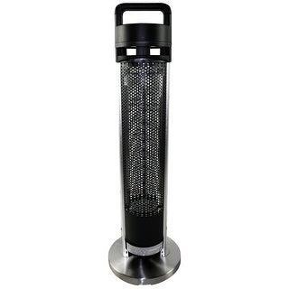 HeTR H1014UPS 1200 Watt 36 inch Electric Patio Heater - Black/silver