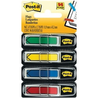"""Post-It Arrow Flags .47""""X1.7"""" 96/Pkg-Assorted Primary Colors"""