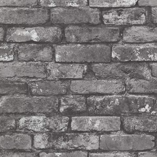 Brewster 2604-21260 Brickwork Slate Exposed Brick Texture Wallpaper