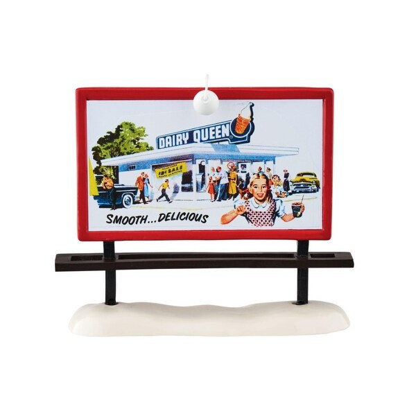 "Department 56 Snow Village ""DQ Billboard"" Accessory #4049034"