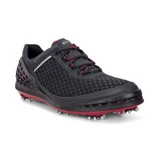 Ecco Mens Golf Cage Evo Black/Brick 47 Euro 13-13.5 US Golf Shoes