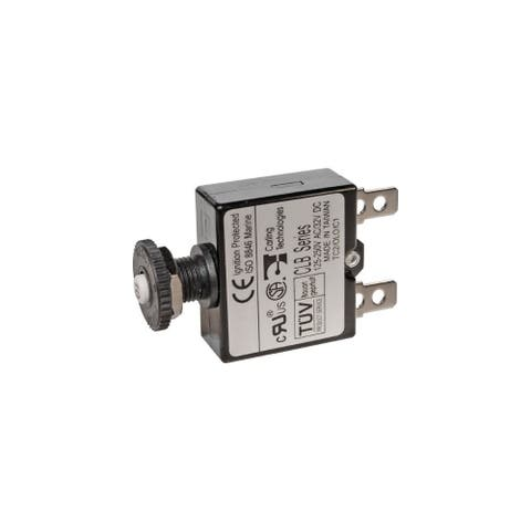Blue Sea Systems 20534B Blue Sea Systems Push Button Reset Only Quick Connect 3A Circuit Breaker