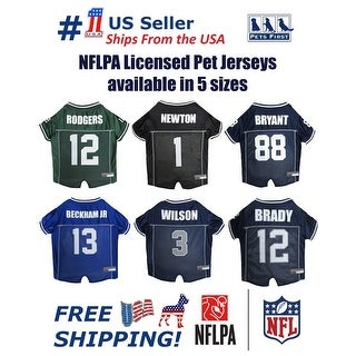 Pets First NFLPA Mesh Jersey for Dogs and Cats - Licensed.
